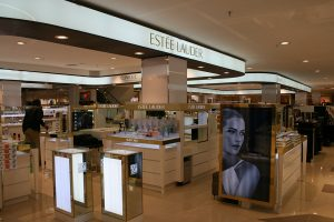 Commercial, Estee Lauder costmetics counters